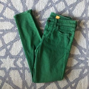 Size 26 Anthropologie green skinny jeans pilcro